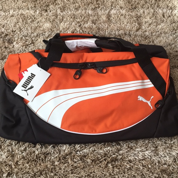 e3b15a3c5 Puma Bags | Team Duffel Gym Sports Travel Bag Orange 24 | Poshmark
